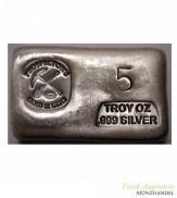 Silberbarren Prospector`s Gold & Gems  5 oz .999 Silber gegossen