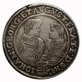 Sachsen Taler Christian II., Joh. Georg u. August 1608